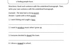 Vocabulary Worksheets | Homograph Worksheets   Printable Homograph Puzzles