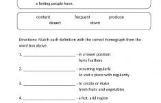 Vocabulary Worksheets   Homograph Worksheets   Printable Homograph Puzzles
