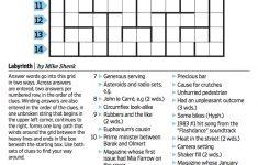 Wall Street Journal Crossword Contest   Journal Foto And Wallpaper   Printable Wsj Crossword