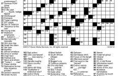 Washington Post Crossword Printable Puzzle | Puzzles Printable   Printable Jumbo Crossword Puzzles