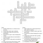 Water Cycle Crossword Puzzle. Great For Environmental Science   Printable Crossword Puzzles Science