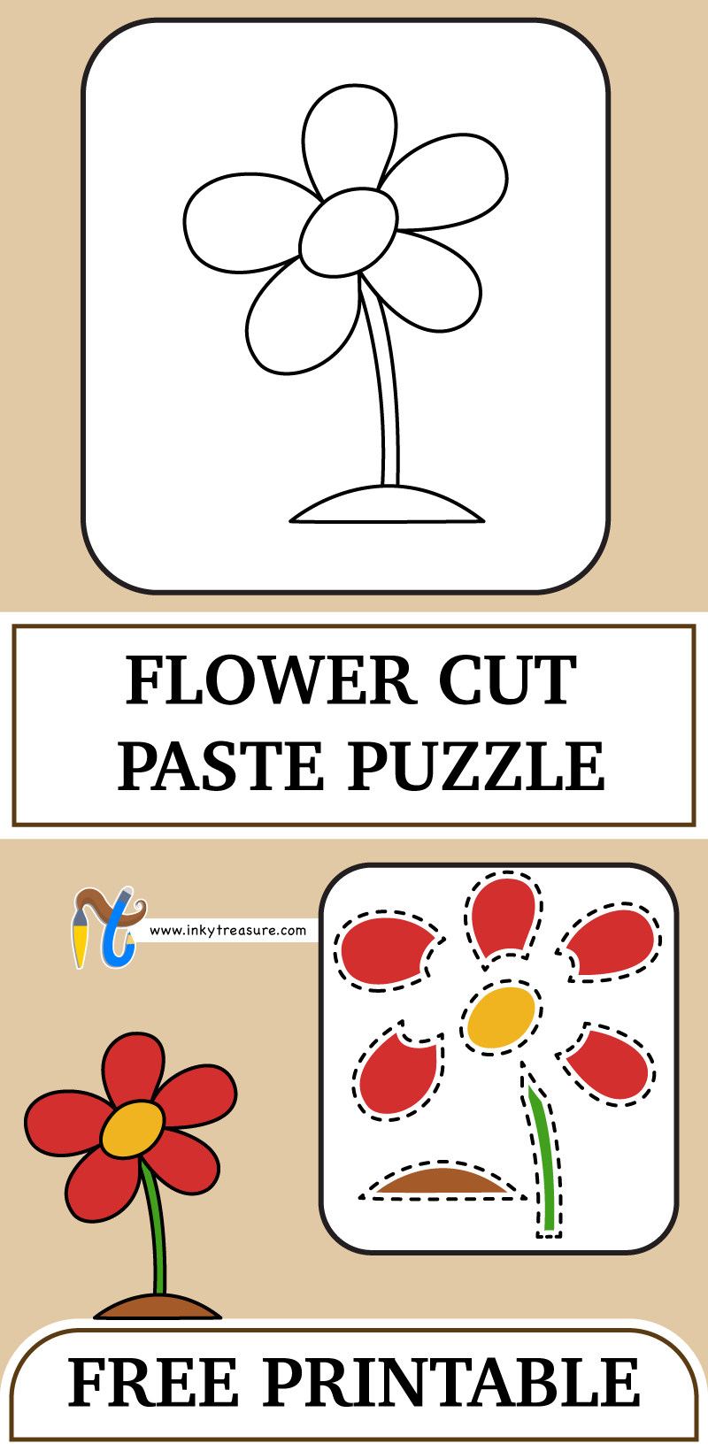 We Have Free Flower Cut And Paste Puzzle Printable For Kids.you Need - Printable Flower Puzzle