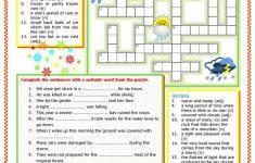 Weather Vocabulary Worksheet   Free Esl Printable Worksheets Made   Printable Weather Crossword Puzzle