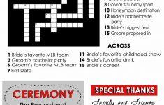 Wedding Program Fans Custom Crossword Puzzletwpweddings, $1.00   Printable Naruto Crossword Puzzles