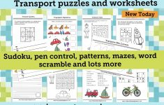 Welcome To Kids Puzzles And Games   Printable Transportation Puzzles