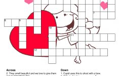 What A Great Way To Spend The Night With Your Love Then Being Smart   Printable Valentine Crossword Puzzle