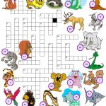 Wild Animals Crossword Puzzle | Lela   Animal Crossword Puzzle Printable