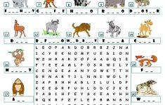 Wild Animals   Wordsearch Worksheet   Free Esl Printable Worksheets   Wildlife Crossword Puzzle Printable