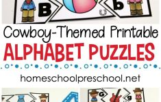 Wild West Themed Alphabet Puzzle Printables   Homeschool Preschool   Printable Alphabet Puzzles