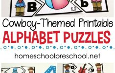 Wild West Themed Alphabet Puzzle Printables | Homeschooling Ideas   Printable Puzzle Alphabet
