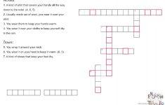 Winter Cloths Crossword Puzzle Worksheet   Free Esl Printable   Winter Crossword Puzzle Printable