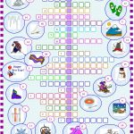 Winter : Crossword Puzzle With Key Worksheet   Free Esl Printable   Printable Winter Crossword Puzzles
