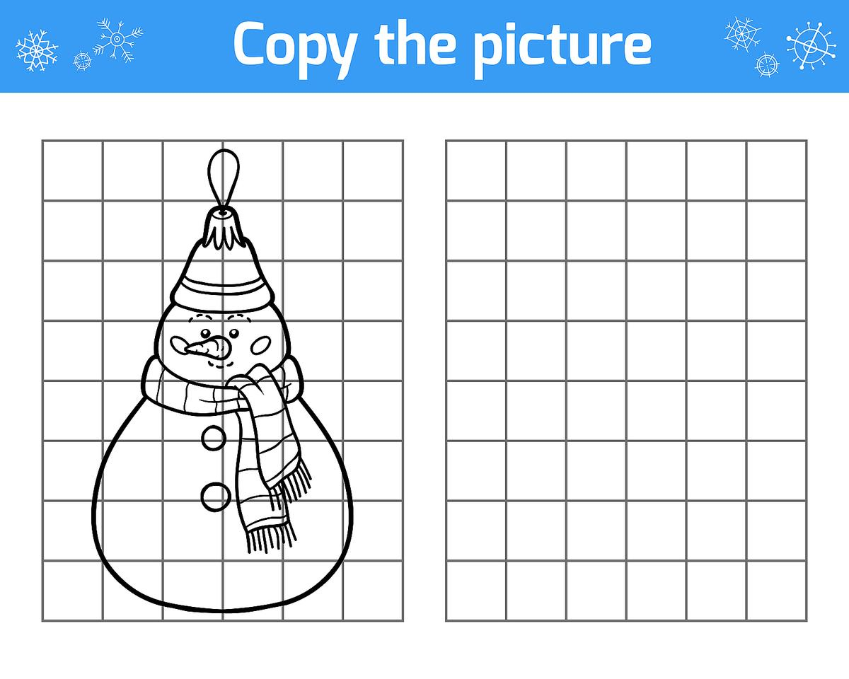 Winter Puzzle & Coloring Pages: Printable Winter-Themed Activity - Printable Puzzles Winter