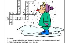 Winter Weather Crossword Puzzle Answer Key | Woo! Jr. Kids Activities   Printable Crossword Puzzles Winter