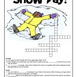 Winter Word Puzzles & Compound Words Vocabulary Worksheets | Woo! Jr   Printable Winter Crossword Puzzles
