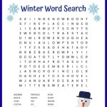 Winter Word Search Free Printable Worksheet   Printable Winter Puzzle