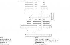 Wire Welding Crossword   Wordmint   Printable 2 Speed Crossword