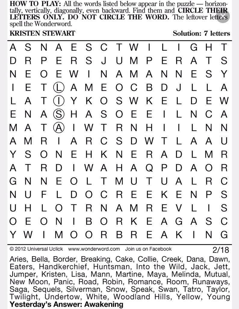 Wonderword Games (@wonderwordfun) | Twitter - Printable Wonderword Puzzles
