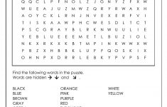 Word Search Puzzle Generator   Printable Word Puzzle For Kindergarten