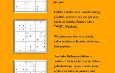 Wordoku Puzzle Book Halloween Edition Volume 1 Printable   Etsy   Printable Wordoku Puzzles