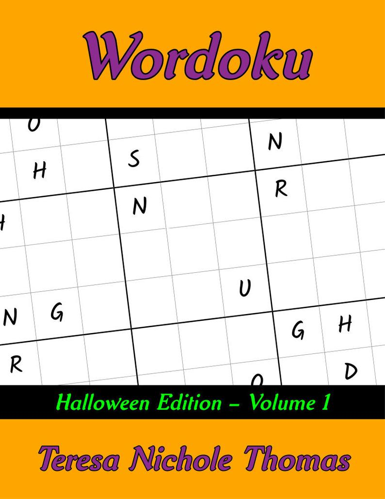 Wordoku Puzzle Book Halloween Edition Volume 1 Printable | Etsy - Printable Wordoku Puzzles