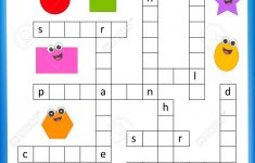 Worksheet   Complete The Crossword Puzzle 2D Shapes Worksheet   Worksheet On Puzzle