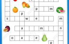 Worksheet   Complete The Crossword Puzzle Fruits Worksheet For   Worksheet On Puzzle