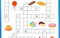 Worksheet   Complete The Crossword Puzzle Sweets Worksheet For   Worksheet On Puzzle