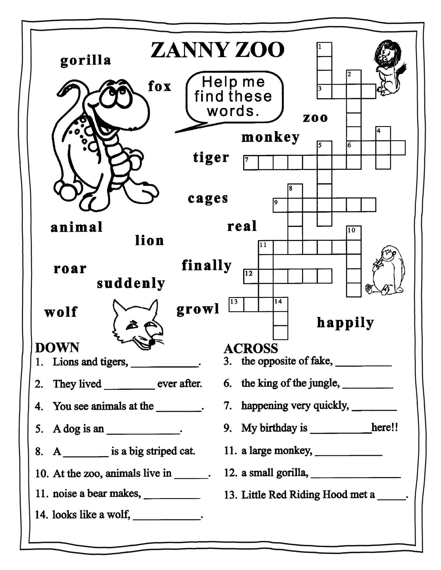 Worksheets For Grade 3 English | Learning Printable | Educative - Printable English Puzzle