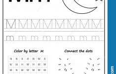 Writing Letter M. Worksheet. Writing A Z, Alphabet, Exercises Game   Letter M Puzzle Printable