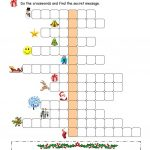 Xmas Crossword Worksheet   Free Esl Printable Worksheets Made   Free Printable Xmas Crossword