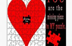 You Are The Missing Piece To My Puzzle Missing U Pillow And Or Tote   Print My Puzzle