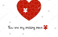 You My Missing Piece Puzzle Heart Stock Vector (Royalty Free   Print My Puzzle