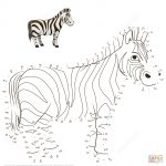 Zebra Dot To Dot | Free Printable Coloring Pages   Printable Zebra Puzzles
