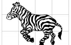 Zebra Puzzle For Kids | Zebra   Printable Zebra Puzzle