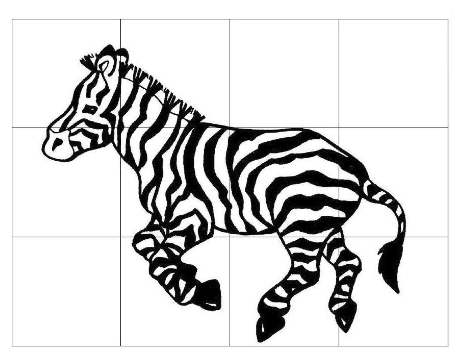 Zebra-Puzzle-For-Kids | Zebra - Printable Zebra Puzzle