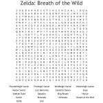 Zelda: Breath Of The Wild Word Search   Wordmint   Zelda Crossword Puzzle Printable