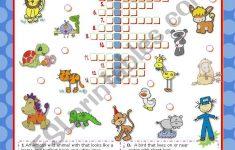 Zoo Friends Crossword Puzzle   Esl Worksheetmena22   Zoo Crossword Puzzle Printable